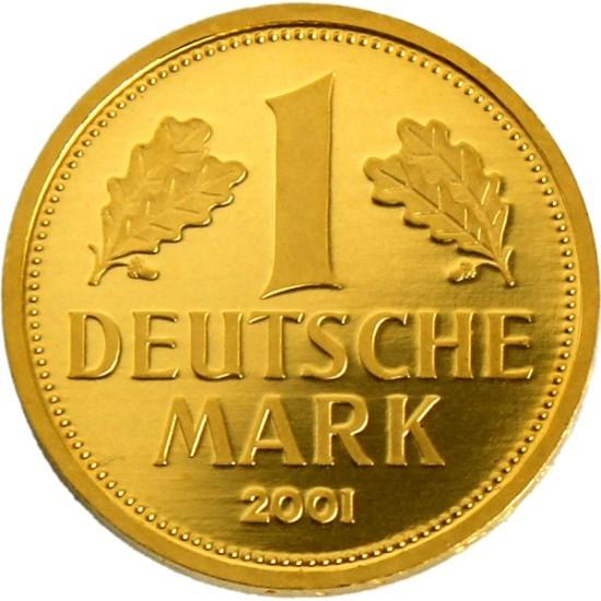 Foto der Vorderseite einer deutschen Mark