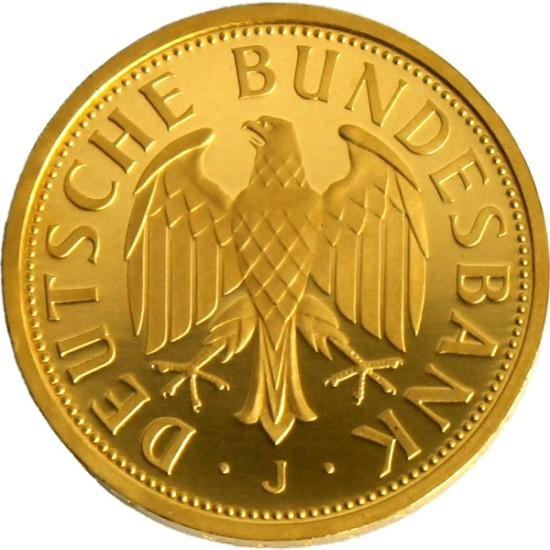 Foto der Rückseite einer deutschen Mark