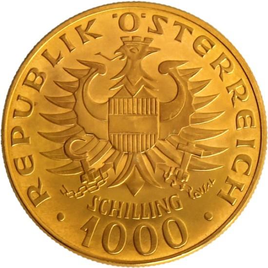 Foto der Rückseite 1000 Schilling Babenberger