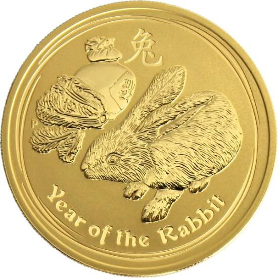 Foto der Vorderseite einer Australian Lunar II Goldmünze