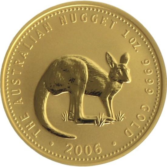 Foto der Vorderseite einer Australian Nugget Goldmünze