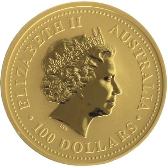Foto der Rückseite einer Australian Nugget Goldmünze