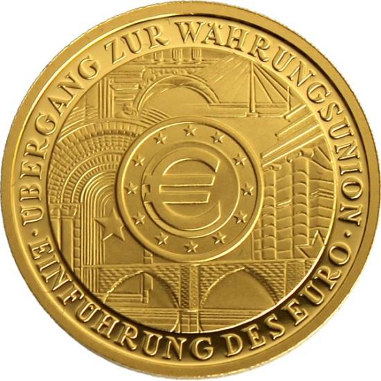 Foto der Vorderseite einer Euro Goldmünze
