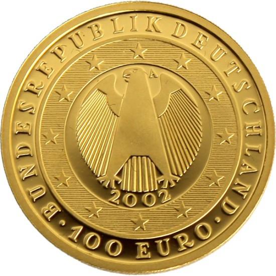 Foto der Rückseite einer Euro Goldmünze
