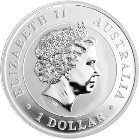 Foto der Rückseite einer Koala Silbermünze