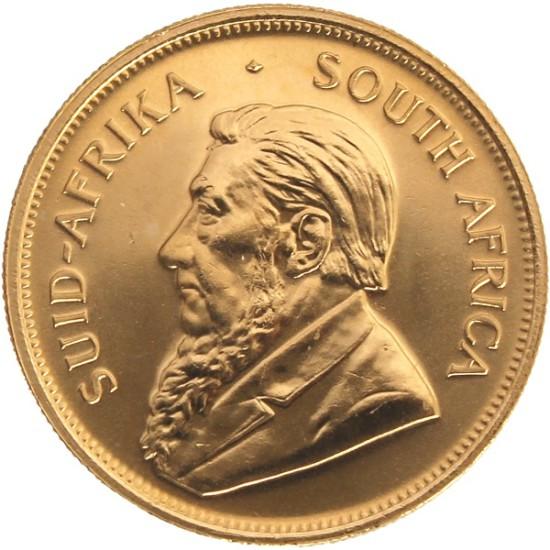 Foto der Vorderseite einer Krügerrand Goldmünze