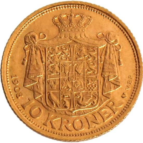 Foto der Rückseite einer Krone Goldmünze