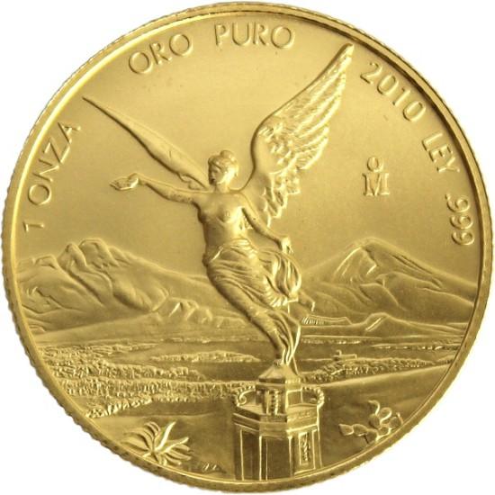Foto der Vorderseite einer Libertad Goldmünze