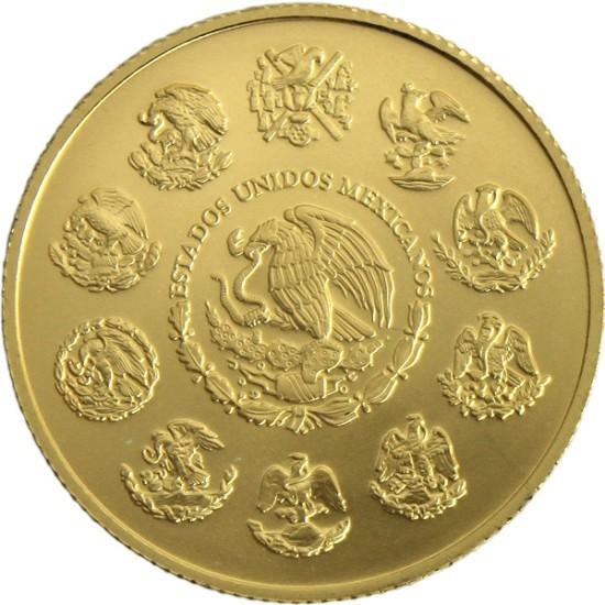 Foto der Rückseite einer Libertad Goldmünze