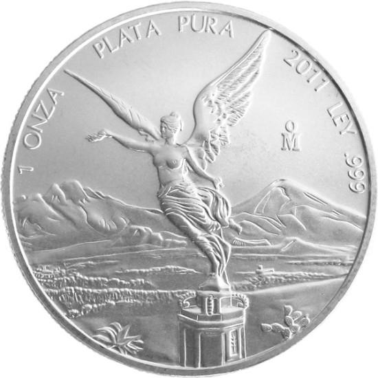 Foto der Vorderseite einer Libertad Silbermünze