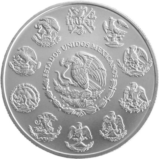 Foto der Rückseite einer Libertad Silbermünze