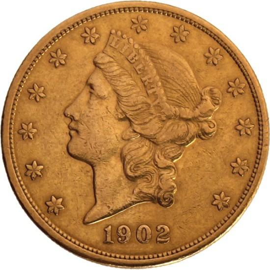 Foto der Vorderseite einer Liberty Kopf Goldmünze